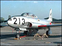 A T33 training jet similar to the one thought to have crashed