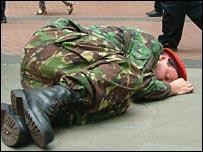 Mark McGowan's Dead Soldier
