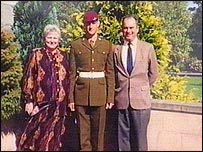 L/Cpl Oliver Dicketts with his parents