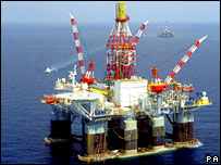A BP oil rig in the Gulf of Mexico (file picture)