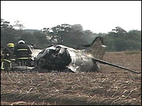 The plane crashed after taking off from the museum at Duxford