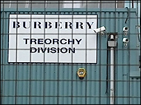 Burberry factory sign