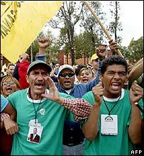Obrador supporters
