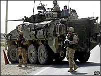 Canadian troops near Kandahar, Aug 29