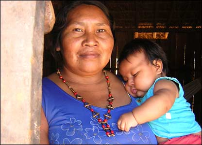 Mother and child in Manoki village