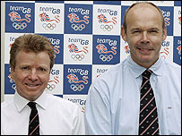 Lord Moynihan (L) and Sir Clive Woodward