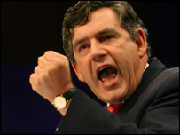 Gordon Brown delivering 2003 conference speech