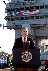 President Bush speaking in May 2003