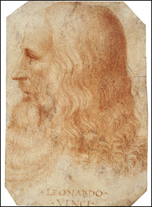 Portrait of Leonardo da Vinci, by one of his students.