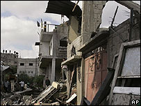 Home destroyed by bombing in Gaza
