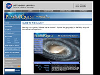 Planet Quest 3D Guide to the Galaxy website