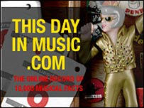 This Day In Music website