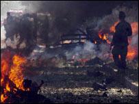 Scene of blast near US embassy in Kabul