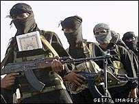 Mehdi militiamen in Sadr City, Baghdad