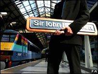 Sir John Betjeman rail naming