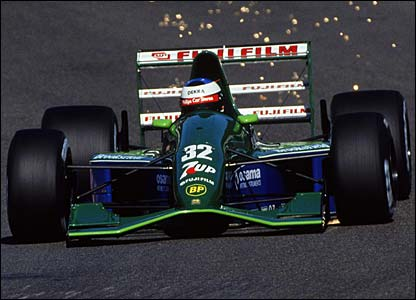 Michael Schumacher makes his Formula One debut for Jordan