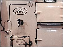 Front of an early Aga cooker