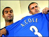 Ashley Cole and Jose Mourinho