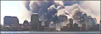 Imagen de Manhattan dos días después de los atentados del 11-S