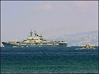 زورق إيطالي قبالة سواحل لبنان
