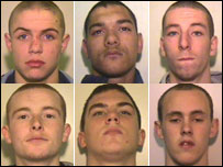 Clockwise: Daniel Allen, Jordan Begley, Sean McGlade, Steven Birchall, Mark Meredith, Leon Lewis