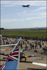 Nimrod flies over RAF Leuchars