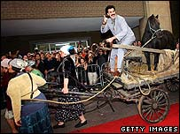 Sacha Baron Cohen as Borat at the Toronto Film Festival