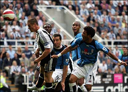Scott Parker scores for Newcastle