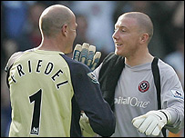 Brad Friedel and Paddy Kenny