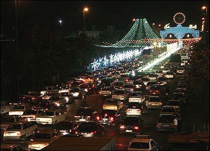 Night shot of Tehran St (All pictures courtesy of Mohsen Shandiz)