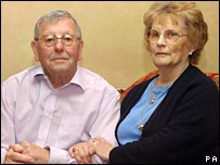 Flight Sergeant Gary Andrews' parents Peter and Joyce