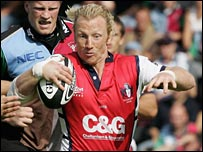 Peter Richards on the attack for Gloucester