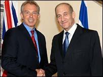 Tony Blair and Ehud Olmert