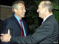Tony Blair and Ehud Olmert
