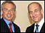 Ehud Olmert and Tony Blair