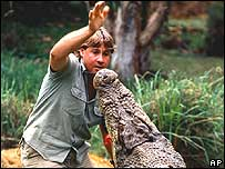 Wildlife presenter Steve Irwin