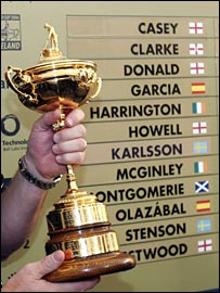 The Ryder Cup European team line-up