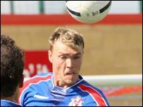 Matt Gadsby playing football