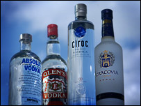 Botellas de vodka