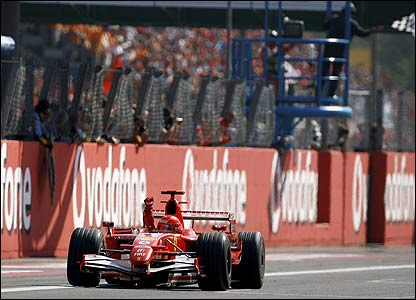 Michael Schumacher wins the Italian Grand Prix to the delight of the Ferrari fans