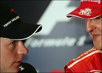 Kimi Raikkonen will aim to follow in Schumacher's footsteps at Ferrari
