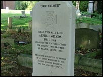 Memorial to Alfred Wilcox