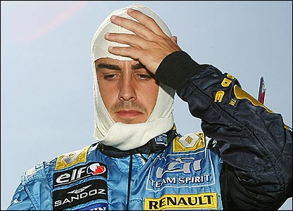 Fernando Alonso retires with nine laps to go
