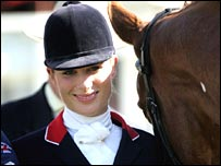 Zara Phillips with Toytown at the Burghley Horse Trials