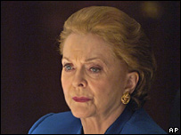 Actress Shirley Douglas as Madeleine Albright