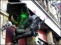 Gargoyle at the Intrepid Fox pub
