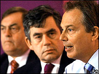 John Prescott, Gordon Brown and Tony Blair