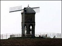 The scene at Chesterton Windmill