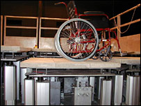 Wheelchair on Pamela deck (UCL