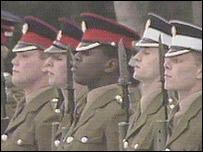 Richard Stokes on parade